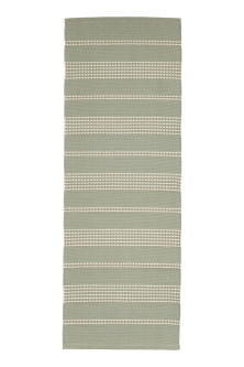 Textured striped cotton rug