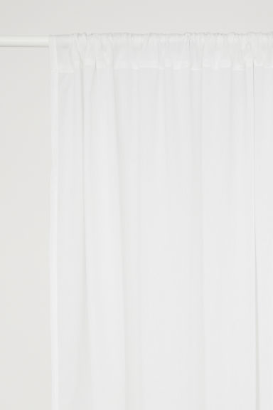 2-pack curtain lengths - White - Home All | H&M GB