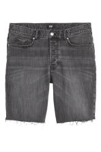 Denim shorts - Black/Washed out - Men | H&M CN 2