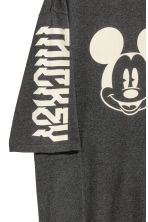 Printed T-shirt dress - Dark grey/Mickey Mouse -  | H&M CN 4
