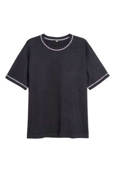 Sturdy cotton jersey T-shirt - Dark blue -  | H&M