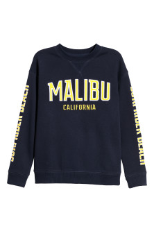 Sweatshirt with Printed Motif
