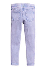 Denim-look treggings - Purple washed out - Kids | H&M CN 3