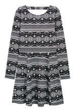 Patterned jersey dress - Black/White patterned - Ladies | H&M 1