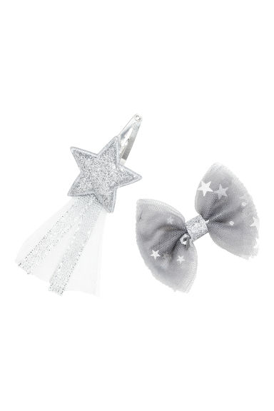 2-pack hair clips - Silver-coloured - Kids | H&M