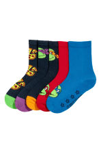 5-pack anti-slip socks - Blue/Turtles - Kids | H&M CN 2