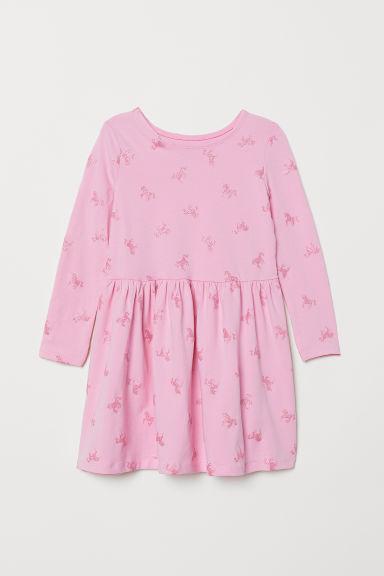 Jersey dress - Pink/Unicorn - Kids | H&M GB