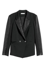 Jacket with sparkly studs - Black - Ladies | H&M CN 2