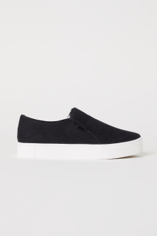 Warm-lined slip-on trainers