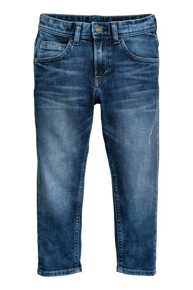 Relaxed Tapered Fit Jeans - 深牛仔蓝 -  | H&M CN