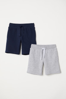Shorts in felpa, 2 pz