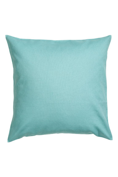 Cotton canvas cushion cover - Light turquoise -  | H&M CN