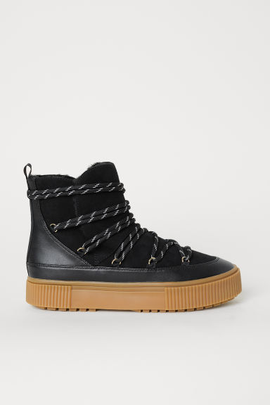 Lined boots - Black - Ladies | H&M GB