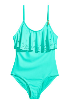 Swimsuit with Flounce Trim