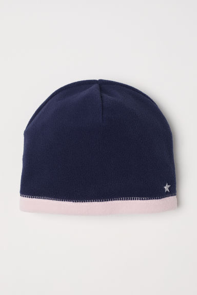 Fleece hat - Dark blue - Kids | H&M CN