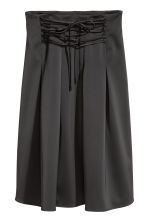 Satin skirt with lacing - Black - Ladies | H&M 2