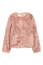 Faux fur jacket - Vintage pink - Ladies | H&M GB 2