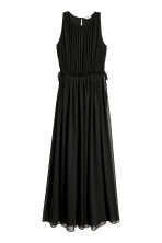 Long chiffon dress - Black - Ladies | H&M IE 2
