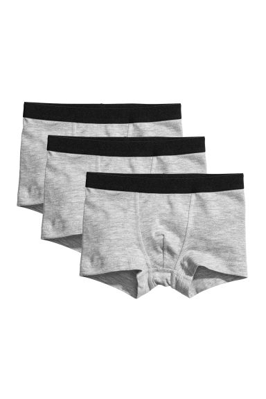 3-pack boxer shorts - Light grey marl -  | H&M