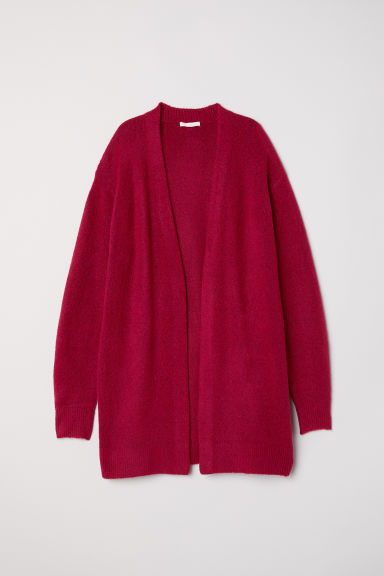 Knitted wool-blend cardigan - Dark red - Ladies | H&M