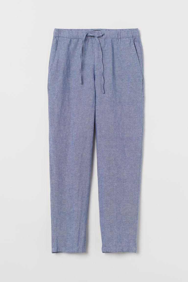 Relaxed Fit Linen-blend Pants