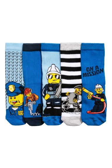 5-pack socks - Bright blue/Lego - Kids | H&M CN