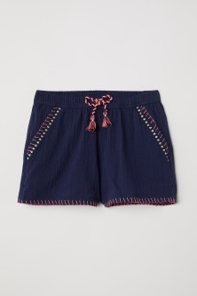 Shorts with embroidery