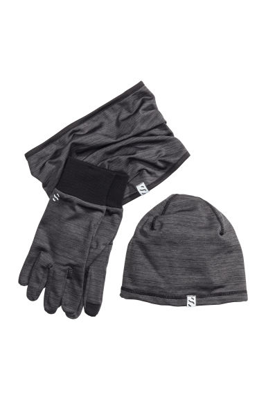 3-piece running set - Black marl - Men | H&M 1