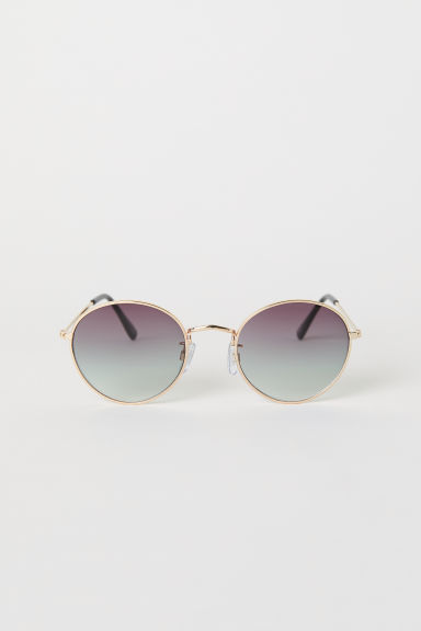 Sunglasses - Gold-coloured/Light grey - Ladies | H&M CN