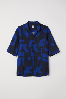 Short-sleeved Lyocell Shirt