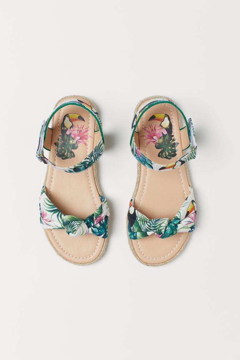 Patterned sandals - White/Toucans - | H&M GB