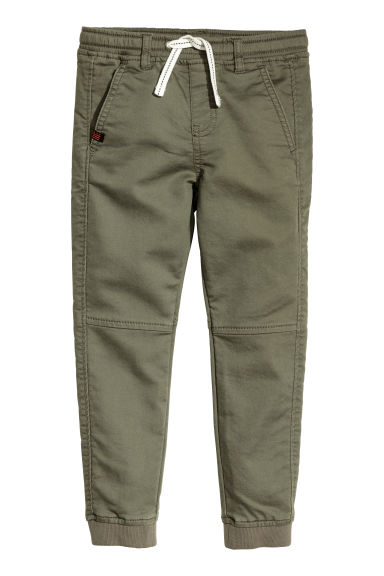 Twill pull-on trousers - Khaki green - Kids | H&M