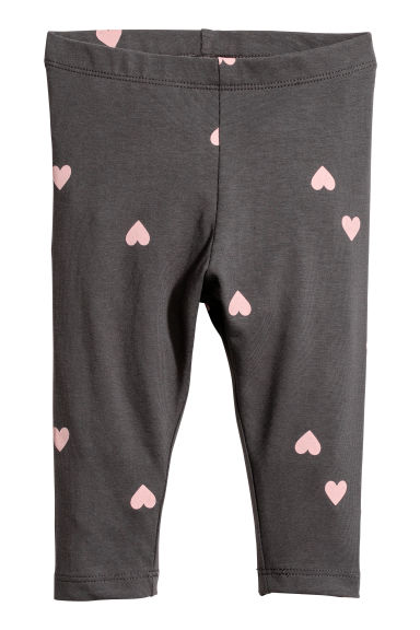 Leggings in jersey - Grigio scuro/cuori -  | H&M IT