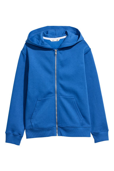 Hooded Jacket - Bright blue - Kids | H&M CN