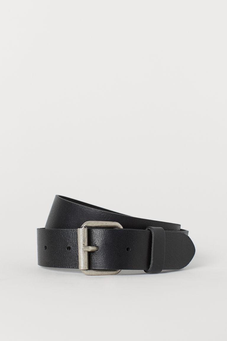 Leather belt - Black -  | H&M GB