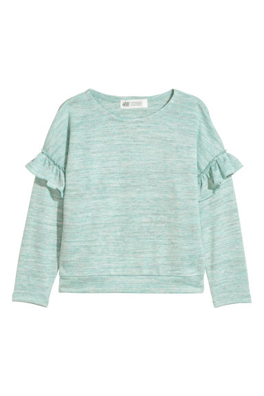 Fine-knit jumper - Light blue marl - Kids | H&M CN