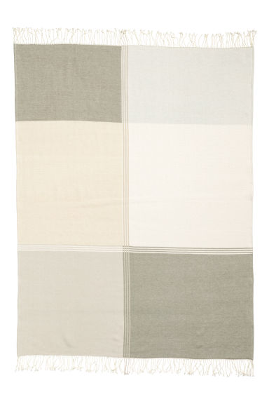 Manta bicolor - Blanco natural/Multicolor - HOME | H&M ES