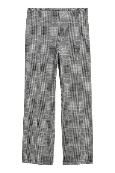 Ankle-length trousers - Black/Dogtooth -  | H&M
