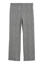 Ankle-length trousers - Black/Dogtooth - Ladies | H&M GB 2