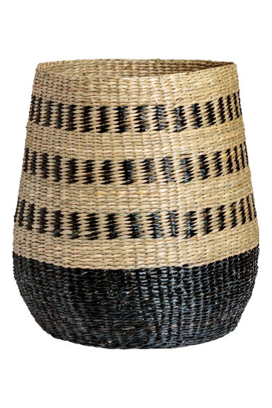 Large storage basket - Natural/Black - Home All | H&M CN