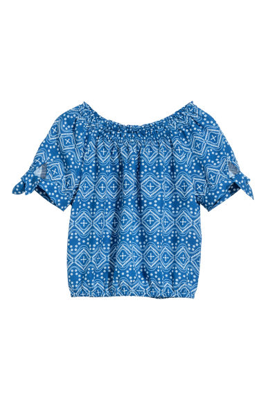 Top in viscosa - Blu/fantasia - BAMBINO | H&M IT