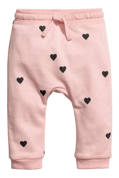 Joggers - Powder pink/Hearts -  | H&M CN