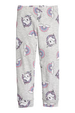 Jersey pyjamas - Light grey marl/Unicorns -  | H&M 2