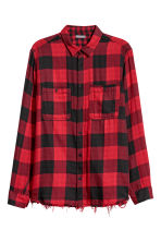 Checked flannel shirt - Red/Black checked - Men | H&M IE 2