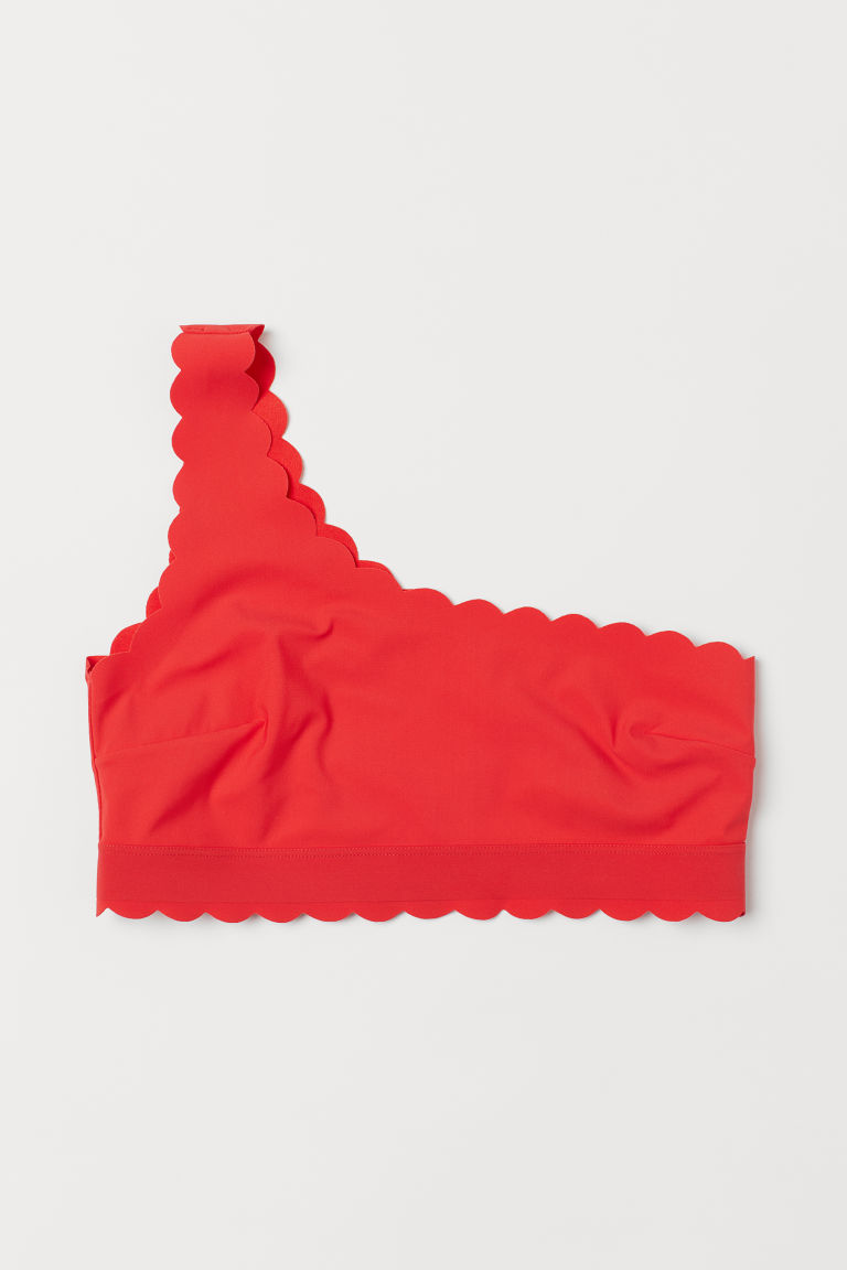 One-shoulder bikini top - Red - Ladies | H&M GB
