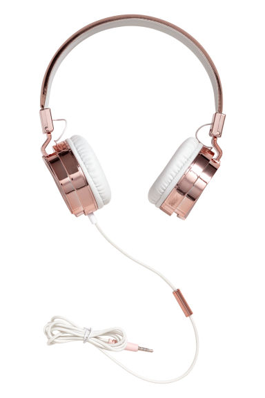 On-ear headphones - Rose gold-coloured/White - Ladies | H&M
