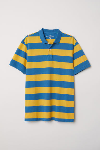 Striped polo shirt Model