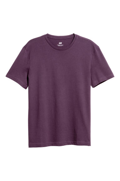Round-neck T-shirt Regular fit - Dark purple - Men | H&M