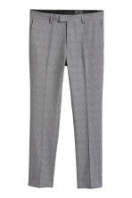 Suit trousers Skinny fit - Grey/Blue checked - Men | H&M IE 2