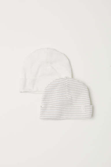 2-pack jersey hats - Light beige - Kids | H&M CN